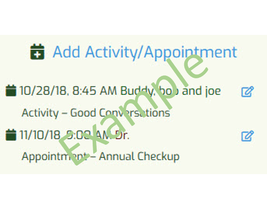 My Activities and Appointments